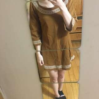 民族風長版洋裝