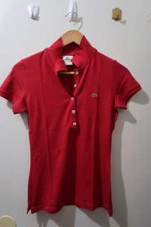 Authentic Lacoste 5 Buttons Polo Women's