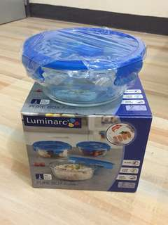 Luminarc 2pcs Glass Container