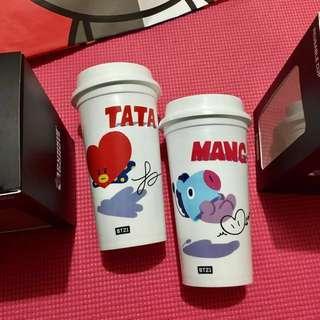 BT21 x DUNKIN DONUTS 聯名限量冷飲杯 MANG TATA