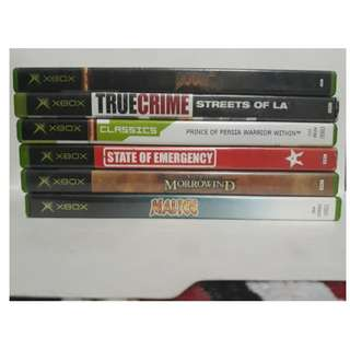 PAL Xbox First Gen Games