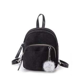 Velvet 2 in 1 Mini bag (Backpack/Sling bag) Black