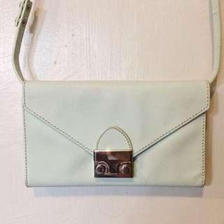 Spring Fling Mint Green Wallet/Sling bag