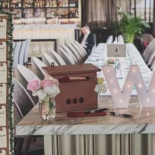 Rose Gold wedding Ang Bao box / Letter Box