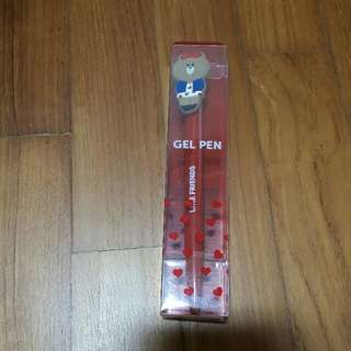 Brand new in box Line Friends Choco gel pen