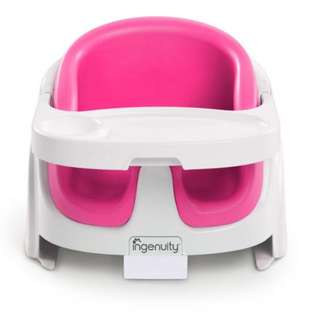Ingenuity Baby Base 2-in-1 Floor Seat (Magenta)