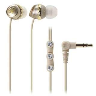Audio Technica champagne gold earpiece/ earphones