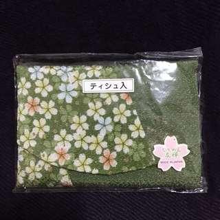 日本帶回春綠粉櫻面紙套