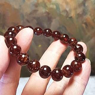 10.1mm Orange (Hessonite) Garnet bracelet [Natural crystal]