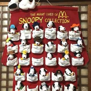 Snoopy McDonalds 2001 Japan Release Stuff Toys
