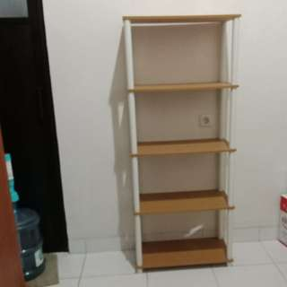 LAST OFFER sudah dipak Rak Plywood 5 Susun