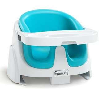 Ingenuity Baby Base 2-in-1 Floor Seat (Aqua)