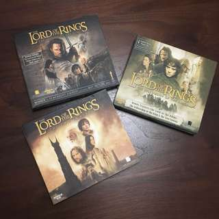 Lord of the rings VCDs