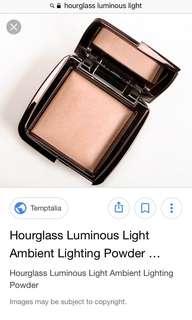 Hourglass luminous light ambient lighting powder