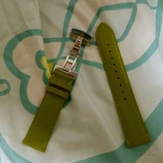 22mm真皮底布帶錶帶