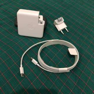 Apple 87W USB-C Power Adapter + USB-C Cable to Lightning