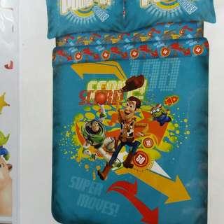 Disney PIXAR TOY STORY King Size雙人床單連被袋