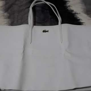 Authentic Lacoste Lage White bag
