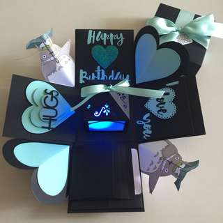 Totoro Explosion Box With Lighthouse, 4 waterfall in black & Tiffany