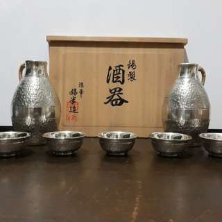 Japaneese silver sake set