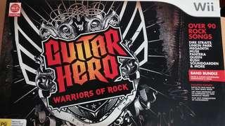 Nintendo WII Guitar Hero Set