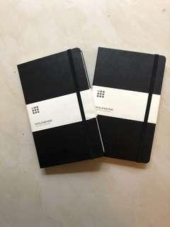2 Moleskine notebooks for HK$100