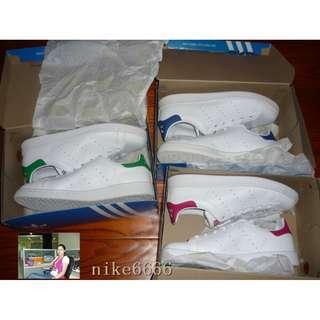 Adidas Stan Smith三葉草綠尾粉紅尾 M20605 B32703