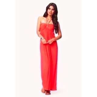 BNWT Forever 21 F21 Halter Maxi Long Dress (do you see this marked sold? no. then OBVIOUSLY ITS AVAILABLE)