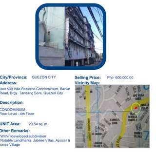 For sale condominium at Quezon City