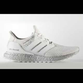 Adidas ultra boost 3.0 crystal white custom uncaged