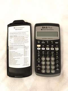 BAII Plus Texas Instruments Financial Calculator for CFA CPA Accounting Business Analyst (New without box)