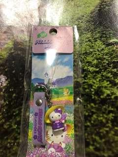 全新Hello Kitty 北海道限定薰衣草電話繩