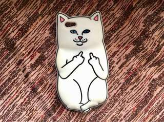 F cat case white iPhone 6/6S silicone case thick protection