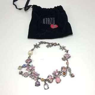 RODRIGO OTAZU Swarovski Crystal Artistic Necklace CHOKER KALUNG