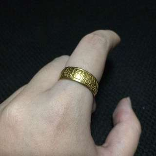 999 gold ring