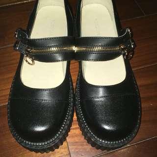 ⛓現貨⛓厚底拉鍊娃娃鞋