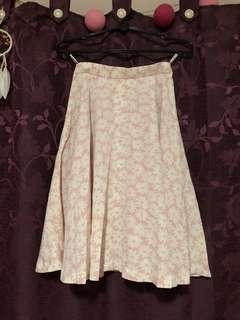 Pink/White Floral Skirt
