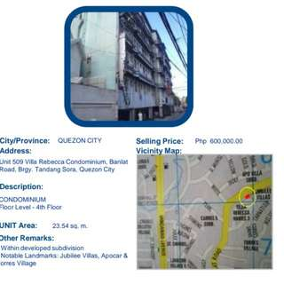 Condominium 2k per month at Quezon City