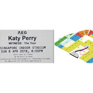 Katy Perry Cat 1 (Sec PA1- near FRONT ROW)