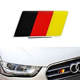 German Flag Front Grille Sticker for VW /Audi /Benz/Opel (READY STOCK)