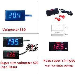 Super Slim Style Koso Voltmeter Motorcycle / Motorbike Car Battery Waterproof Super Slim Style Koso Voltmeter Motorcycle / Motorbike Car Battery Waterproof