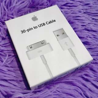 Apple 30 pin charger with box and manual for iphone 4s Ipad 1 2 and 3 :)