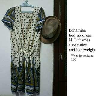 Bohemian Dress with Side pockets