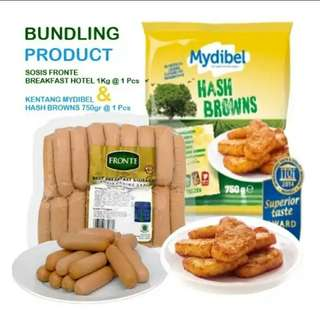 Bundling sosi fronte breakfast hotel 1kg &  mydibel hash brown triangle 750 gr