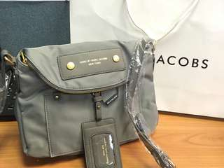 Marc Jacobs-gray sling bag