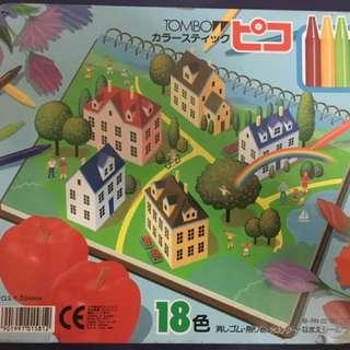 Tombow日本蜻蜓牌蠟筆18色 日本製
