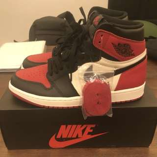 Air Jordan Bred Toe
