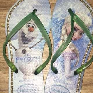哈瓦拖鞋水鑽款31-32碼