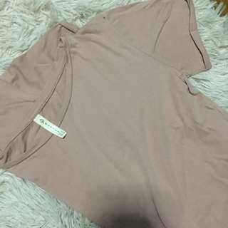 Stradivarius Blush Pink Cropped Shirt
