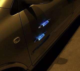 Car Light Solar Power Rainbow Colour